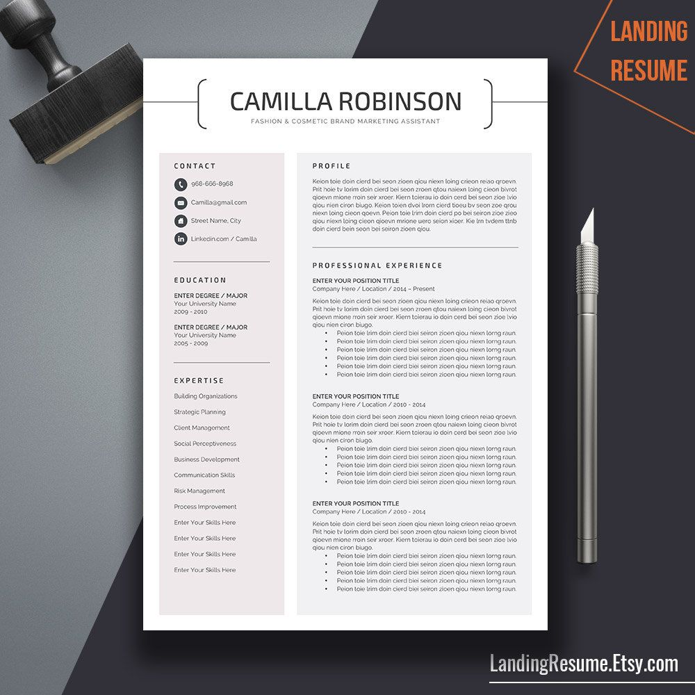 mac pages resume templates%0A Professional Resume Template Cover Letter Word US Letter