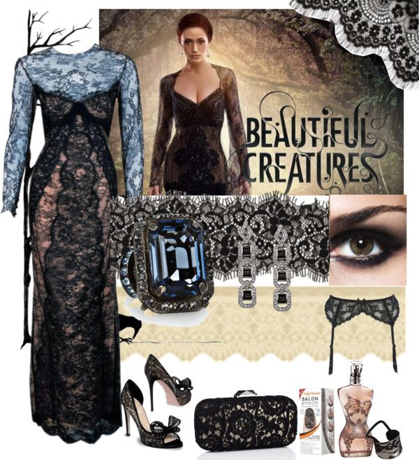 Black lace dress in beautiful creatures