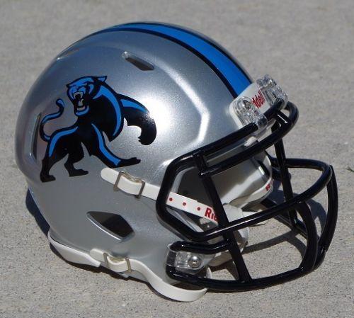 Carolina Panthers Silver Speed Concept Football Mini Helmet Football Helmets Carolina Panthers Panthers