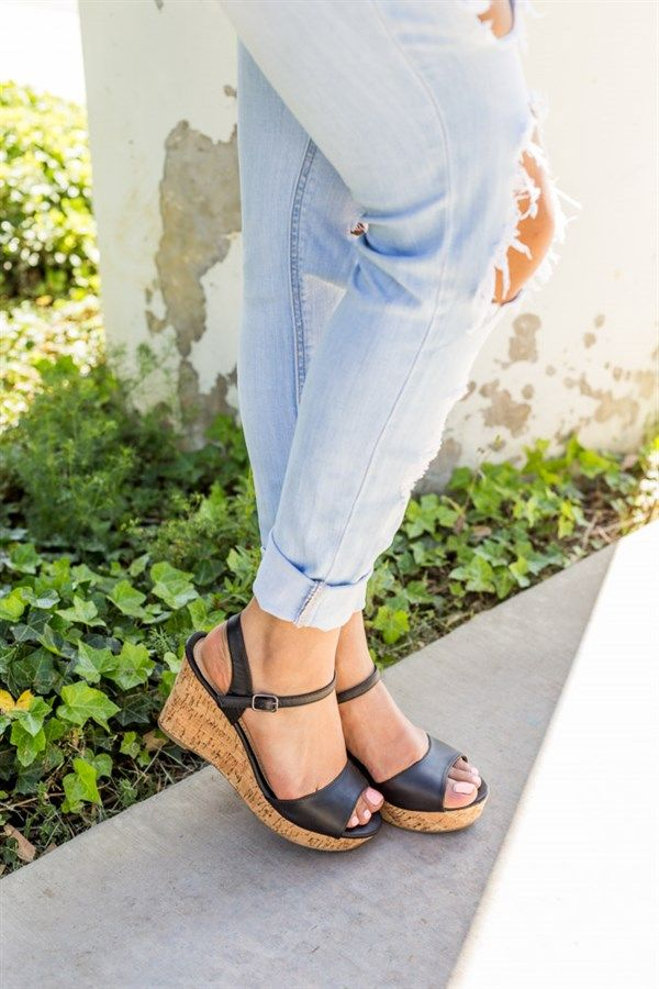 Perfect Go-to Platforms Wedges 4 Colors Wedges, Colour black and