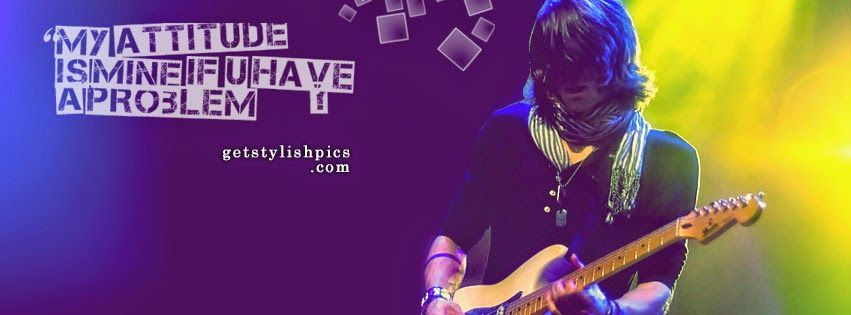 Stylish Boy With Guitar Facebook Cover 851x