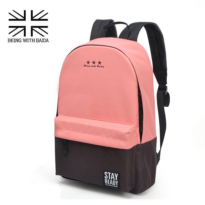 aaca00f39a0c Goedkope Fashion school rugzak vrouwen kinderen scholen back pack leisure  koreaanse dames knapzak laptop reistassen voor tienermeisjes