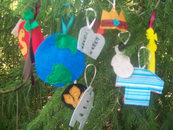 Felt Jesse Tree Ornaments