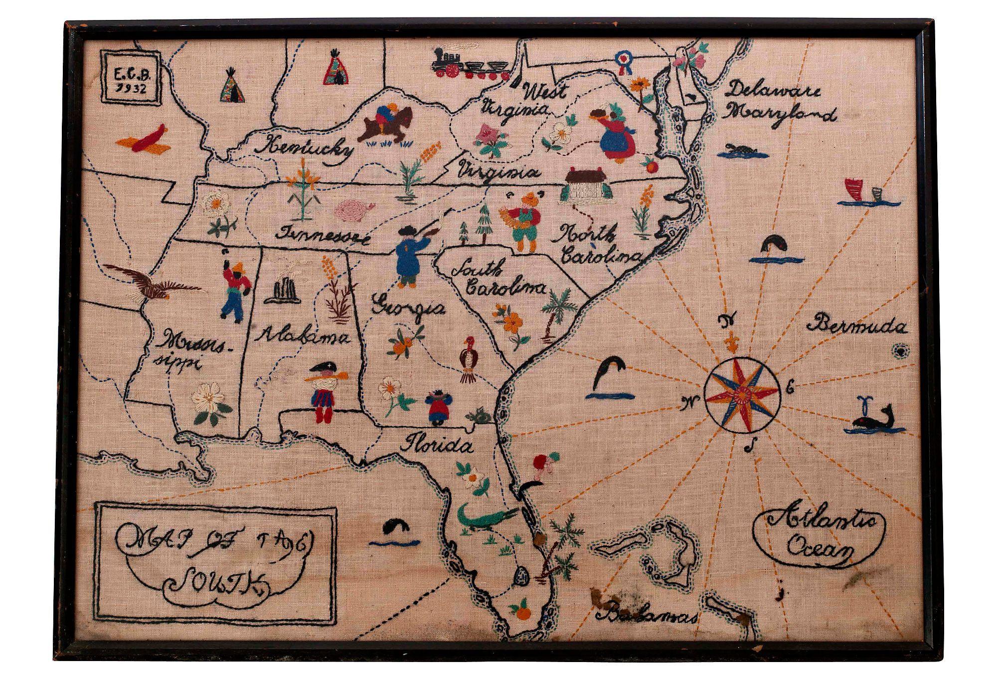 John Salibello Map of the South