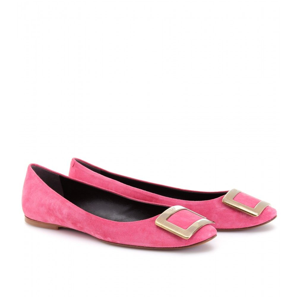 roger vivier shoes | Roger Vivier Belle Vivier Pink Suede Ballerinas Flats Shoes