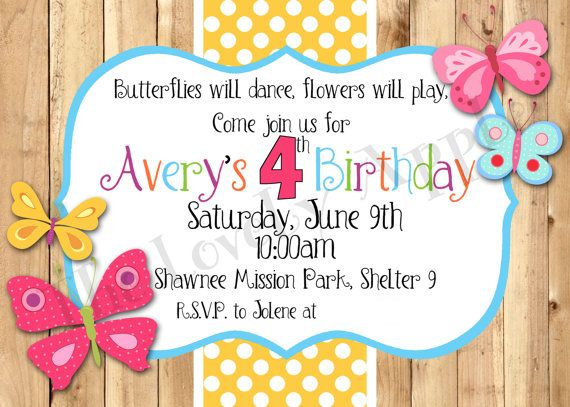11 butterfly invitations ideas