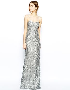 c351ba4bf29 Awesome silver sparkle art deco inspired bridal gown for under  500 from   asos