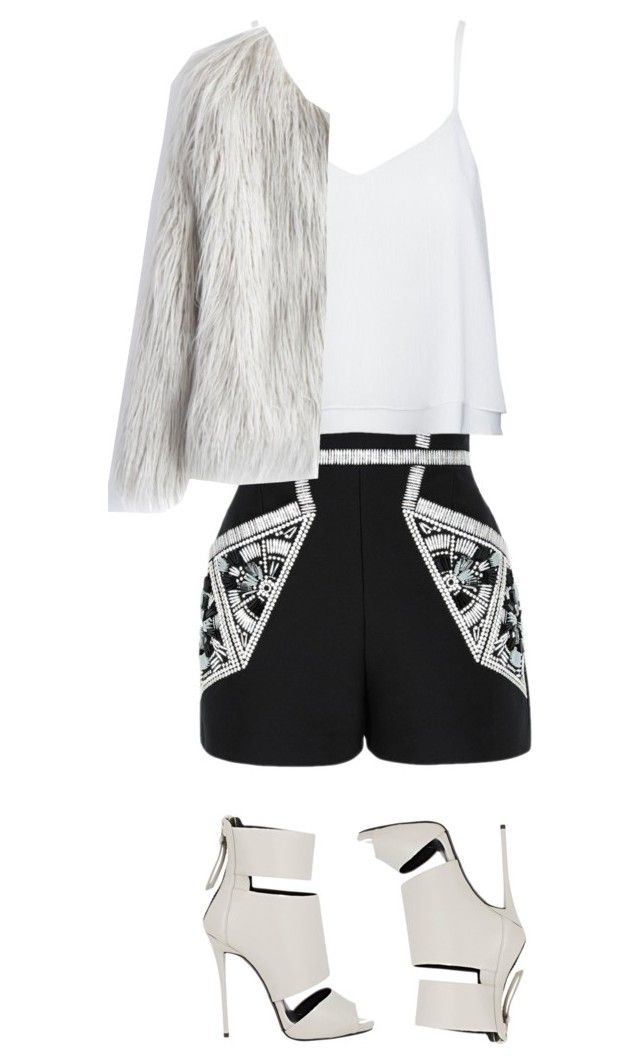 """""""Untitled #60"""" by azraudv ❤ liked on Polyvore featuring sass & bide, Alice + Olivia, Chicwish and Giuseppe Zanotti"""
