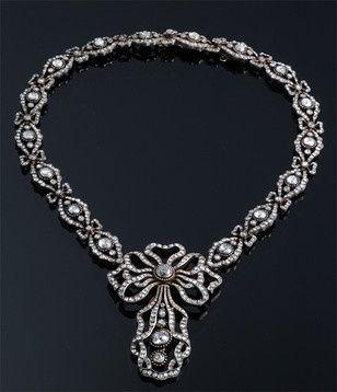 Diamond necklace, vintage Cartier.