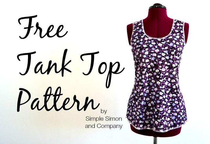 Free Tank Top Pattern | Costura, Patrones y Patrón gratis