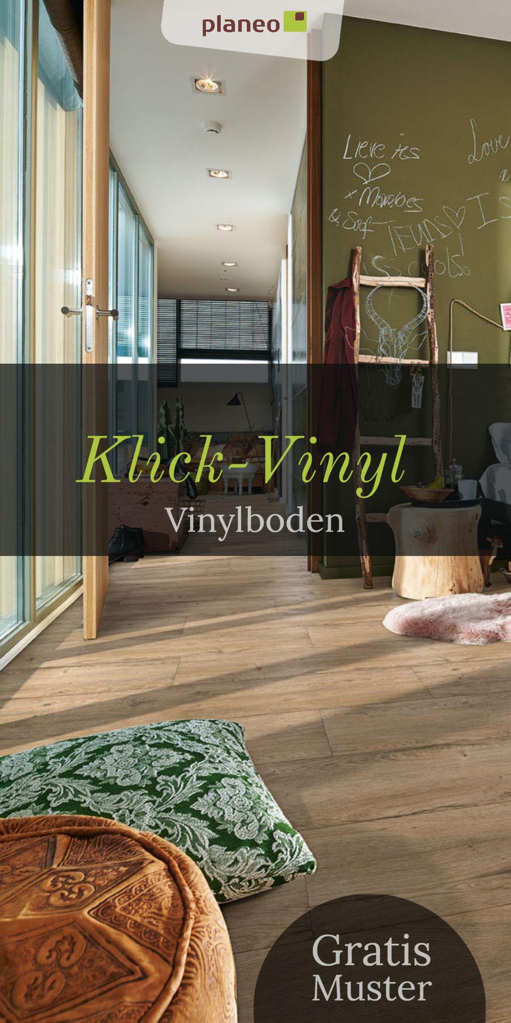 Klick Vinylboden In Fliesenoptik Holzoptik Eiche Fur Bad Kuche Wohnzimmer U V M Vinylboden Haus Deko Vinylboden Fliesenoptik