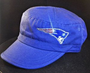 Swarovski Crystal Rhinestone Bling New England Patriots Cadet Hat Cap   Patriots 74ae7128ebcc