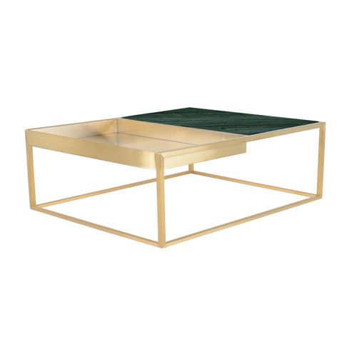 Nuevo Hgna461 Corbett Matte Green 36 Inch Coffee Table Bellacor