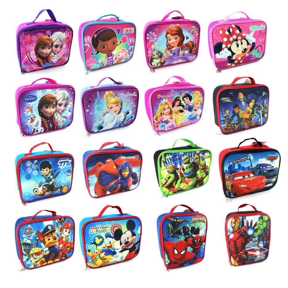 Disney Nickelodeon Marvel Character Childrens Kids Soft Lunch Box #DisneyNickelodeonMarvel