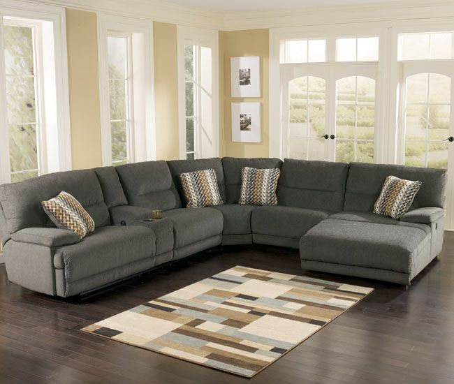 Ashley Furniture Industry: Kytaline 4 Piece Power Recline Chaise Sectional