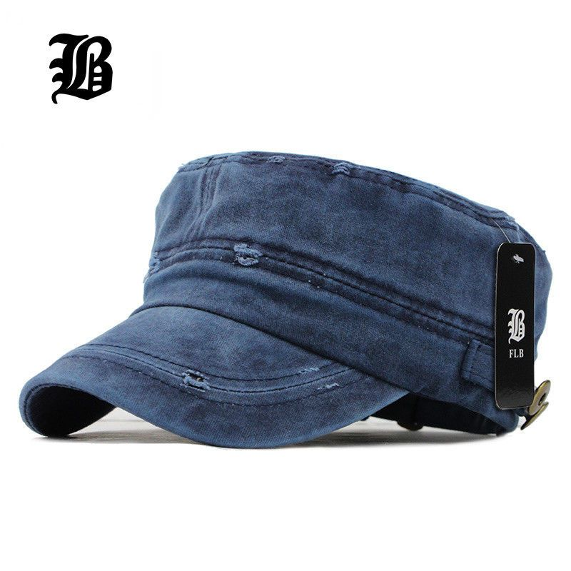 486add2adc8  12.99 -  Flb  2016 Classic Vintage Flat Top Mens Washed Caps And Hat  Adjustable