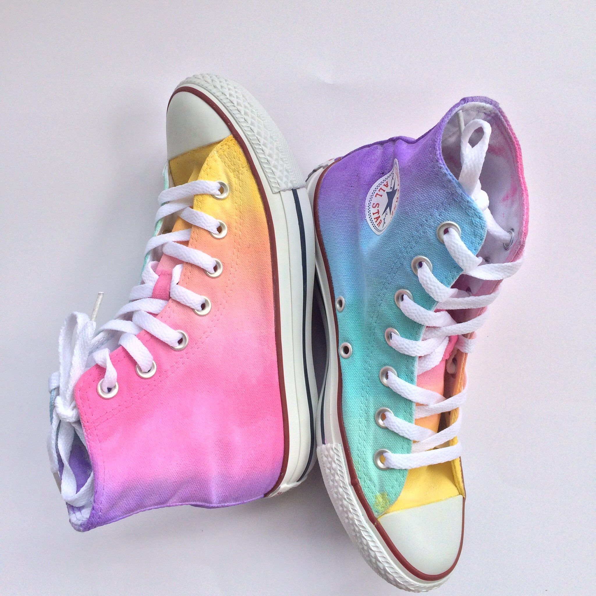 fa0b4900e2bc Pastel Rainbow High Top Converse Converse High Tops Colors
