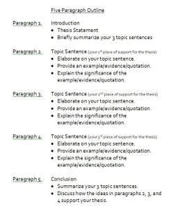sample 5 paragraph essay college