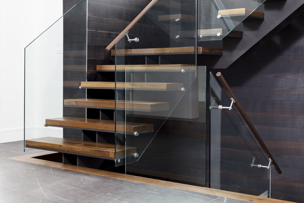 Best Twin Stringers Metal And Wood Steps Glass Side Mount 400 x 300