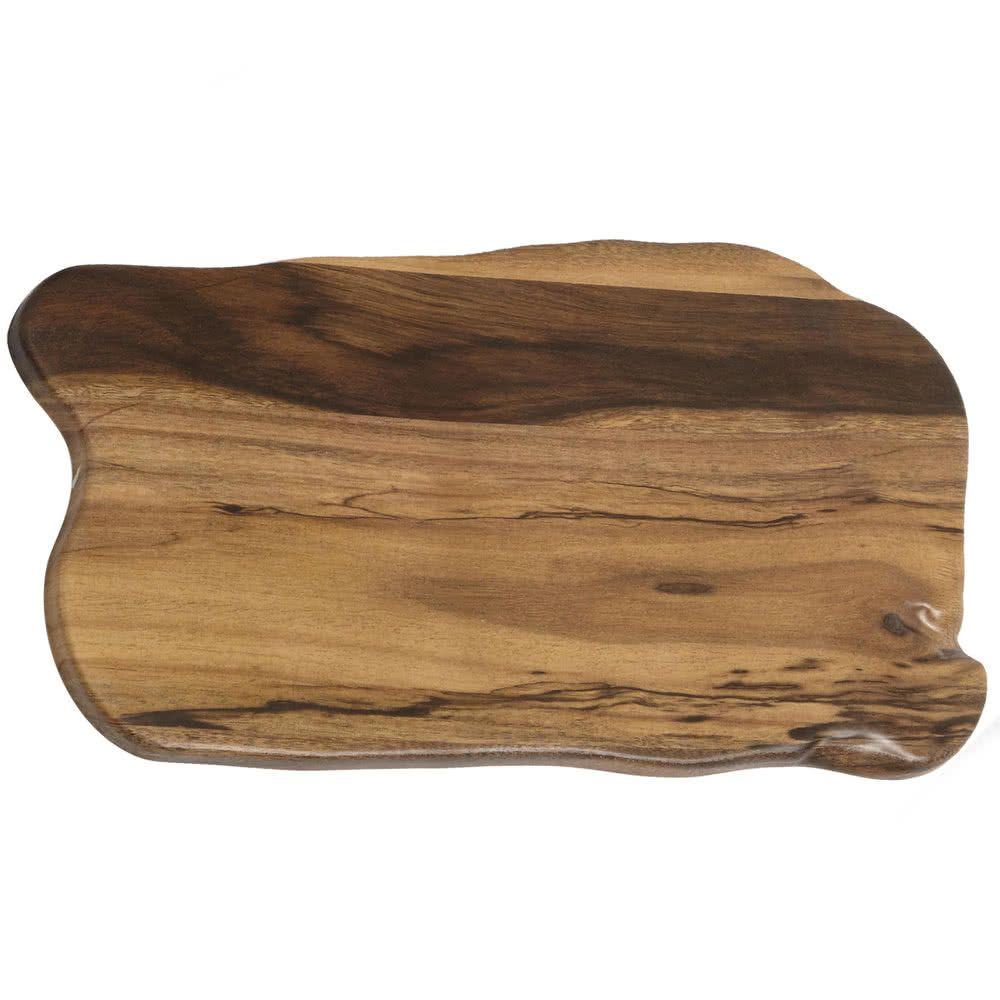 American Metalcraft Awm17 17 3 8 X 9 7 8 Organic Shape Melamine Serving Board Faux Acacia American Metalcraft Organic Shapes Wooden Serving Boards