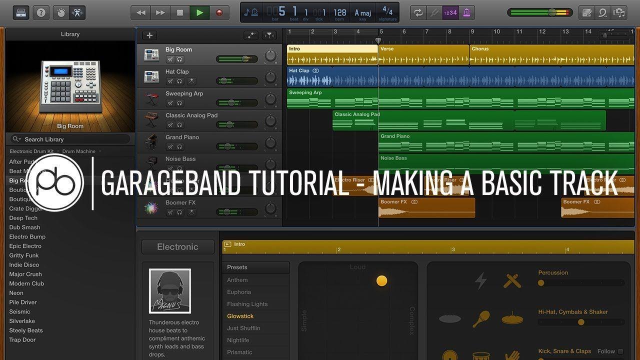 Garageband Tutorial How to Make a Basic Track YouTube