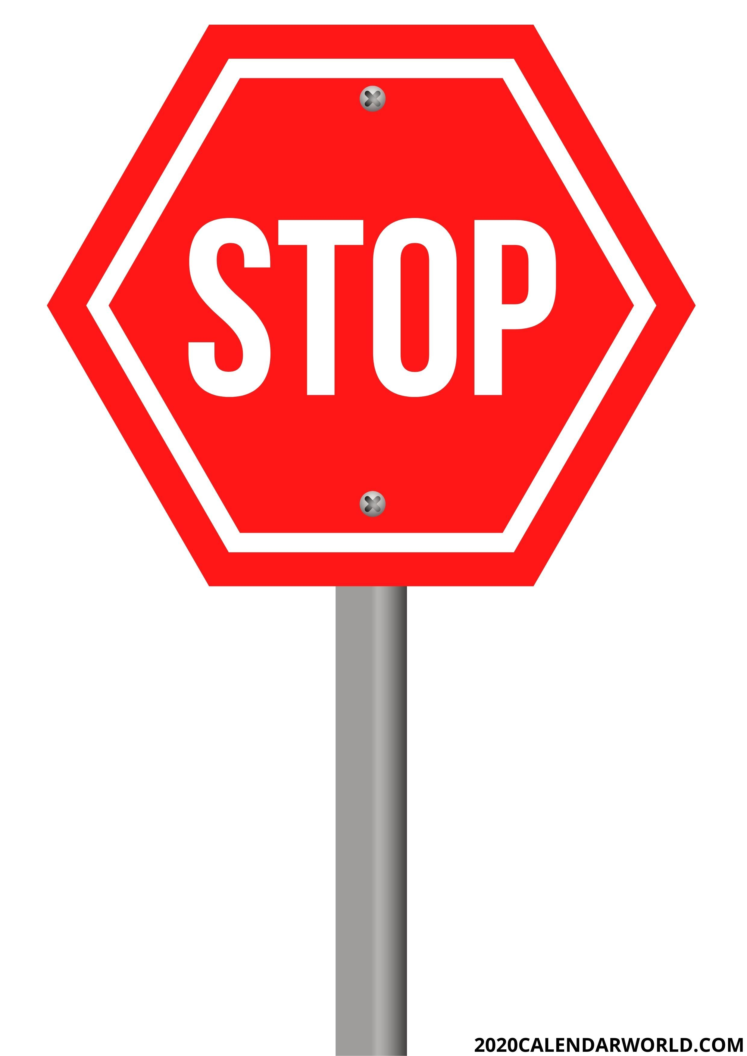 Free Download Printable Stop Sign Template In 2021 Sign Templates Printable Signs Templates