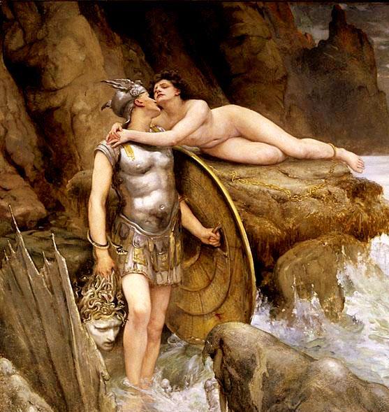 Perseus And Andromeda Detail Charles Napier Kennedy 19th Century Sitios Interesantes De Latín Mythology Greece Mythology Y Perseus Myth