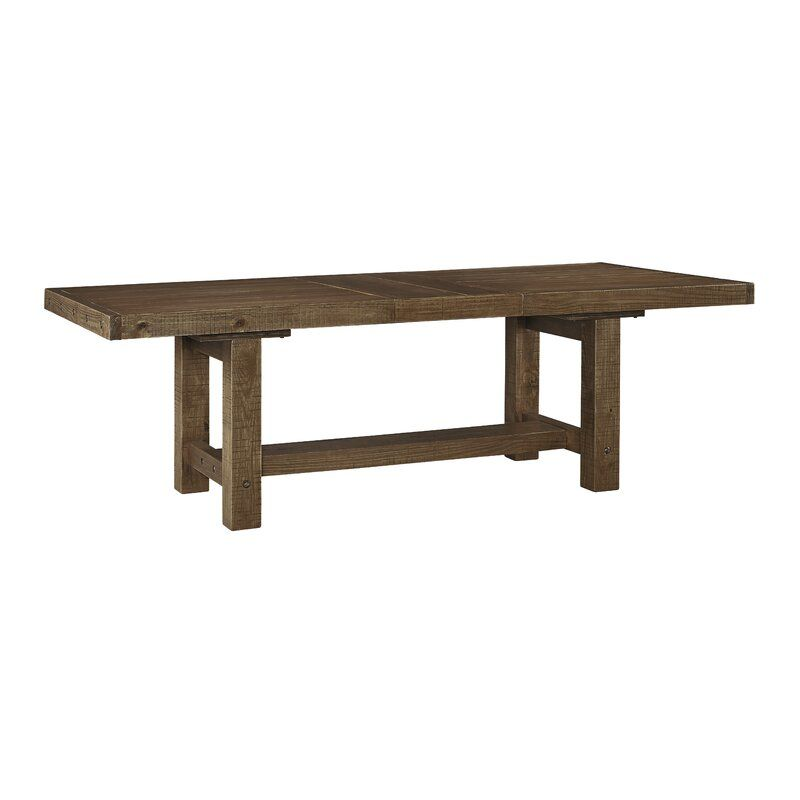 Etolin Extendable Dining Table In 2020 Extendable Dining Table Dining Table Trestle Dining Tables