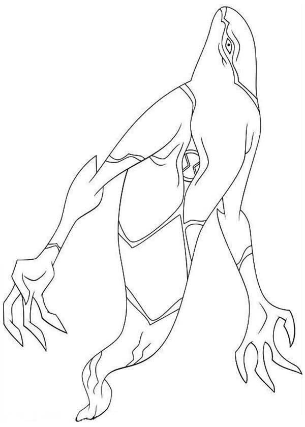 Ghostfreak From Ben 10 Omniverse Coloring Page Download Print Online Coloring Pages For Free Color Ben 10 Omniverse Online Coloring Pages Coloring Pages