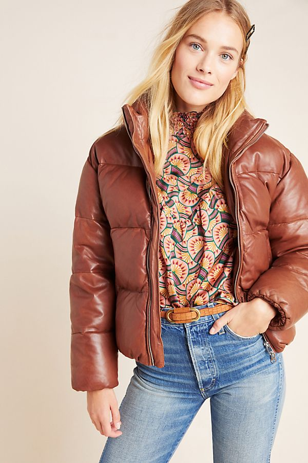 Lamarque Iris Leather Puffer Jacket Jackets, Jackets for