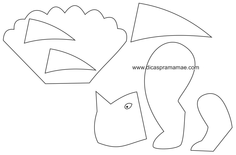 dinossauro-de-bexiga-molde-3.png (1163×761) | globos | Pinterest ...