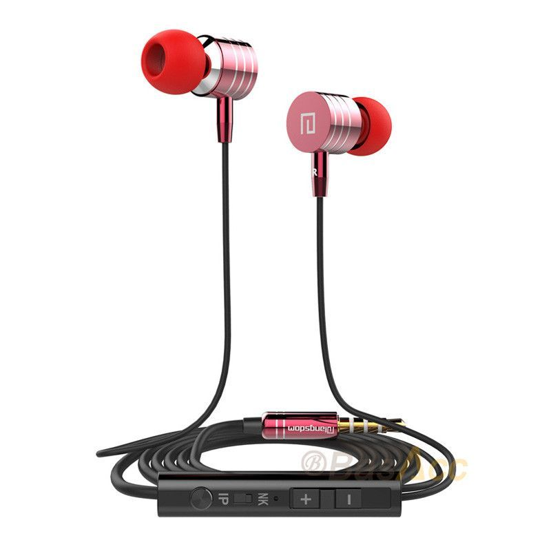 Original Stereo Super bass 3.5mm Metal In-Ear Headphones Built-in Microphone MP3 Phone Earphone for iPhone Samsung