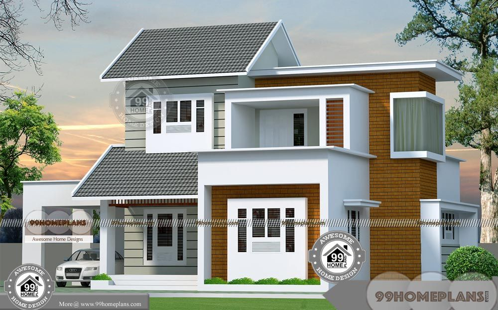 3 Bedroom 2 Story House Plans And Eye Catching Balcony Home Designs 1630 Sq Ft Home With Most Kerala House Design Bungalow House Design Architect Design House
