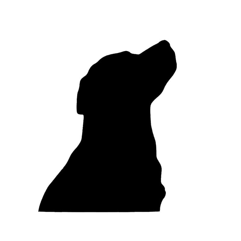 Photo of Wholesale 10pcs/lot 20pcs/lot Dog Outline Vinyl Decal Car Truck Sticker Bumper W…