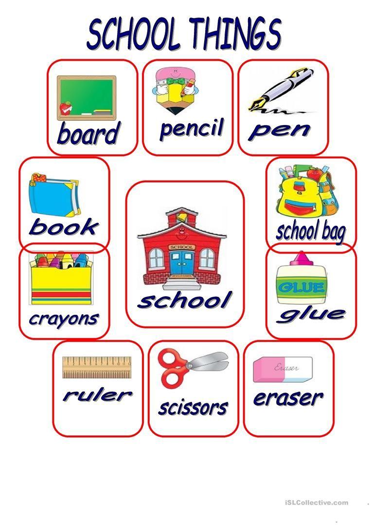 School Things Worksheet Free Esl Printable Worksheets Made By Teachers School Worksheets Kindergarten Worksheets Kindergarten Worksheets Printable [ 1079 x 763 Pixel ]