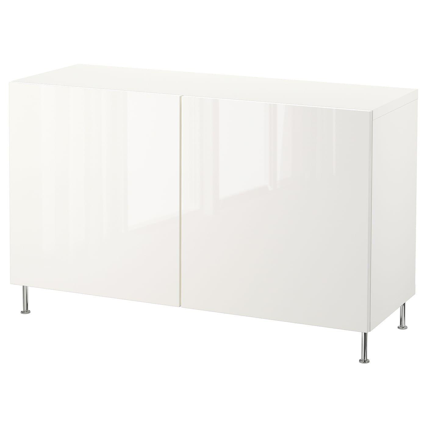 Besta Aufbewahrung Mit Turen Weiss Selsviken Stallarp Hochglanz Weiss Ikea Osterreich In 2020 Ikea Adjustable Shelving Wall Shelf Unit