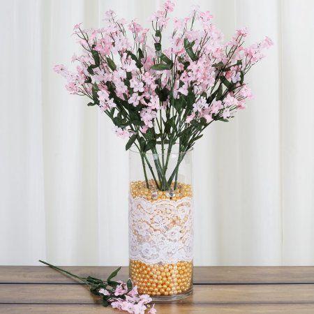 Balsacircle 12 Bushes Baby Breath Silk Filler Flowers Diy Home Wedding Party Artificial Bouquets Arrangements Centerpieces Walmart Com Wedding Vases Wedding Centerpieces Diy Artificial Flowers