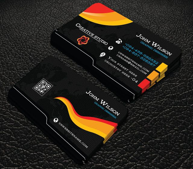 Free Downlord Professional Black Colour Business Cards Professional Busi Business Cards Creative Colorful Business Card Professional Business Cards Templates