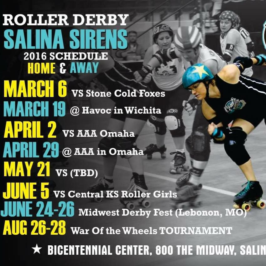 Salina Sirens Roller Derby 2016 Schedule Roller girl