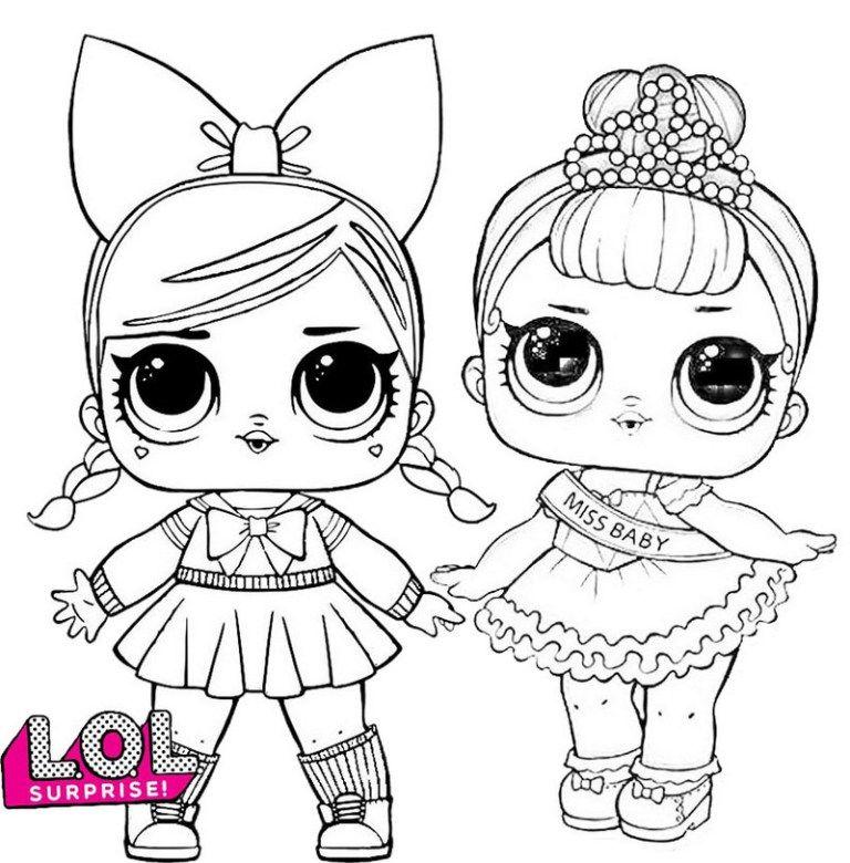 PHDBB Series 3 LOL Surprise Doll Coloring Page Lulu
