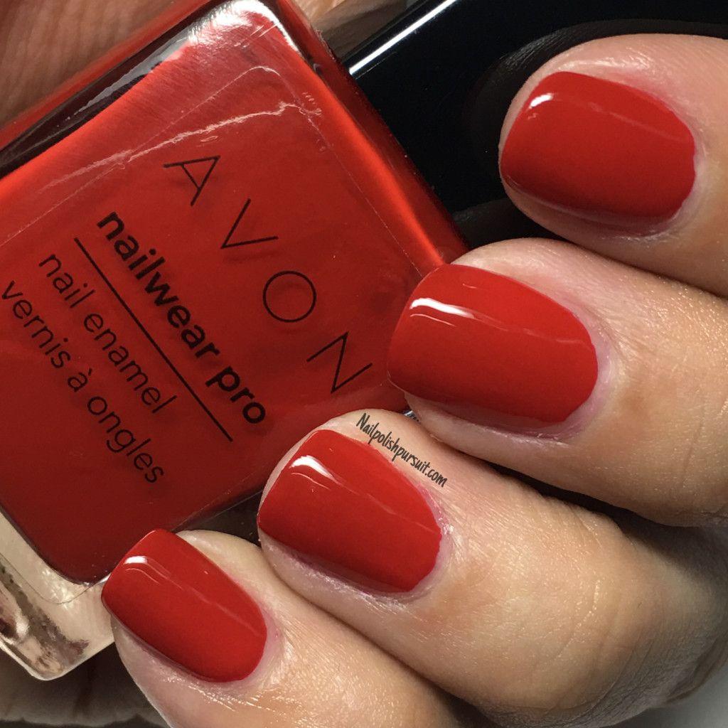 Real Red by AVON Nailwear Pro   Nailpolishpursuit.com   The Polished ...