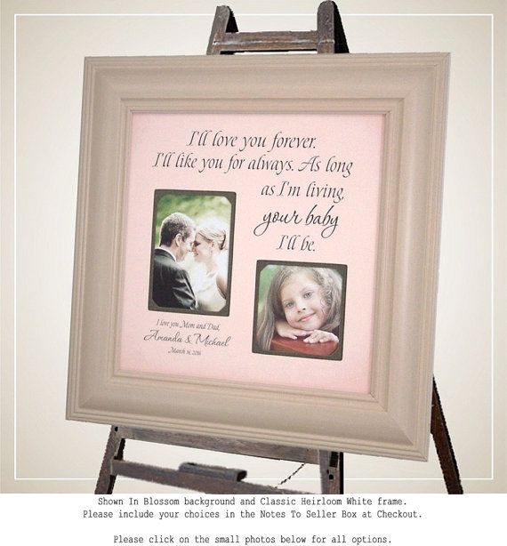 Personalized Picture Frames Parents Wedding Gift By PhotoFrameOriginals