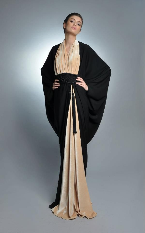 Nude/Black Abaya reminds me of my time in dubai...beautiful.