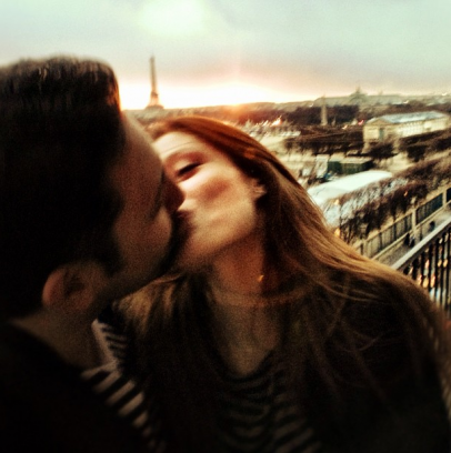 coco rocha My last kiss in Paris before heading back to NYC for the weekend.