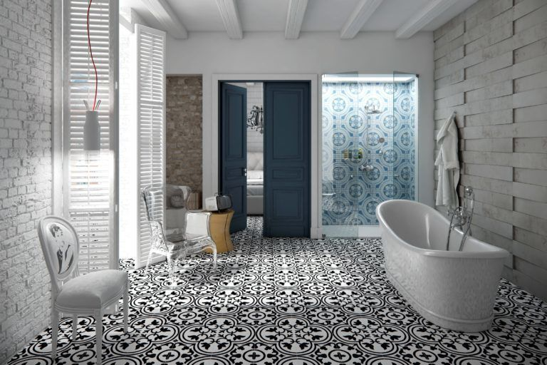 Decorative Floor Wall Tiles Tile Portland Black And White Bathroom Floor Gray And White Bathroom Trending Decor