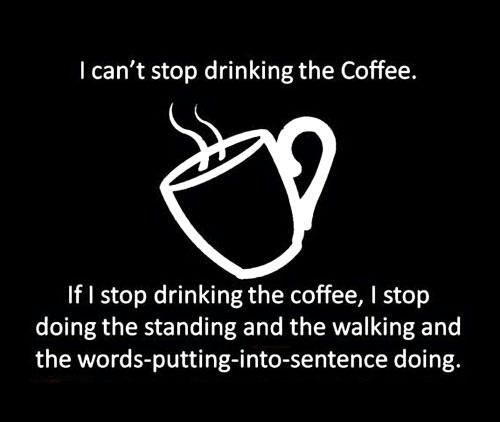 coffee is a must!