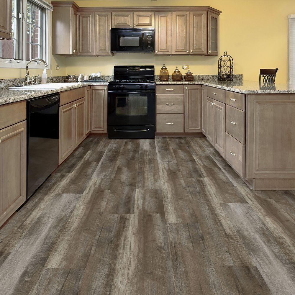 kitchen flooring home depot wide 8 7 in x 47 6 in easy rustic beige resilient vinyl 4857