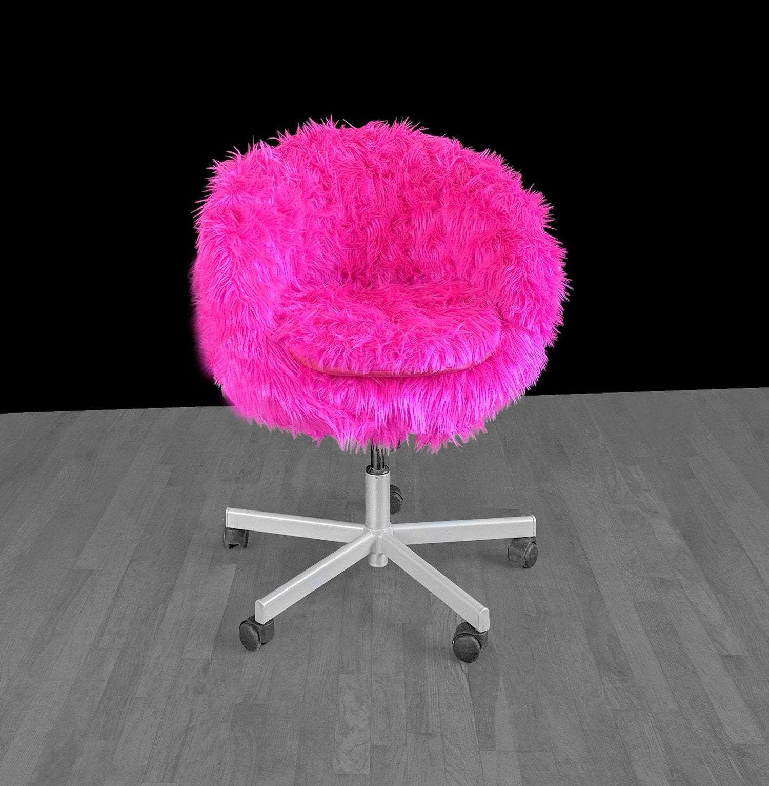 IKEA SKRUVSTA Chair Slip Cover, Hot Pink Fur in 2020