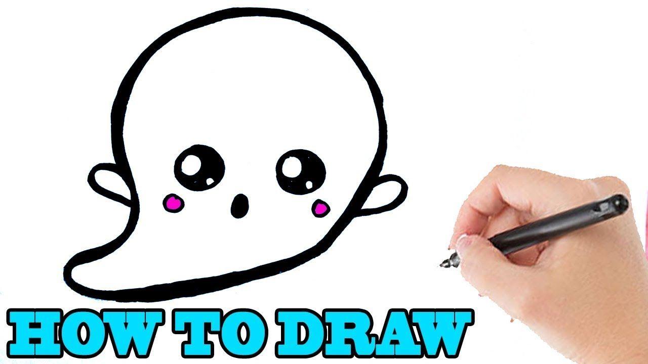 Hoe Teken Je Een Halloween Spookje Halloween Lerentekenenvoorbeginners Youtube Halloween Leer Tekenen Teken