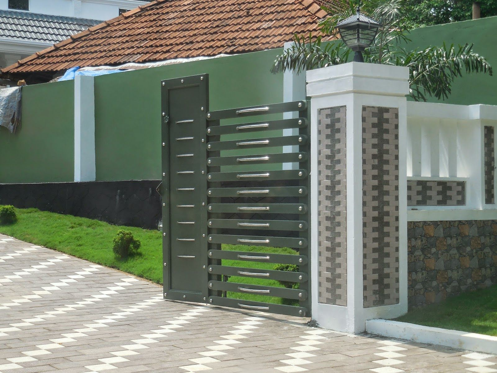 house fence design in kerala google search